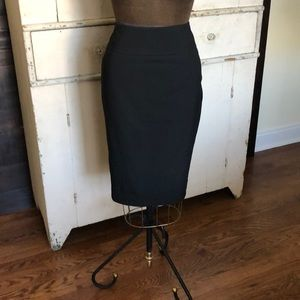 Mossimo Black Stretch Twill Pencil Skirt